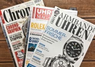 Vergleich: Armbanduhren-Zeitschriften – mehr Schein alsSein?
