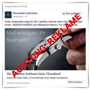 Muss Reklame so billig sein? Oder: Körperverletzung beiFacebook