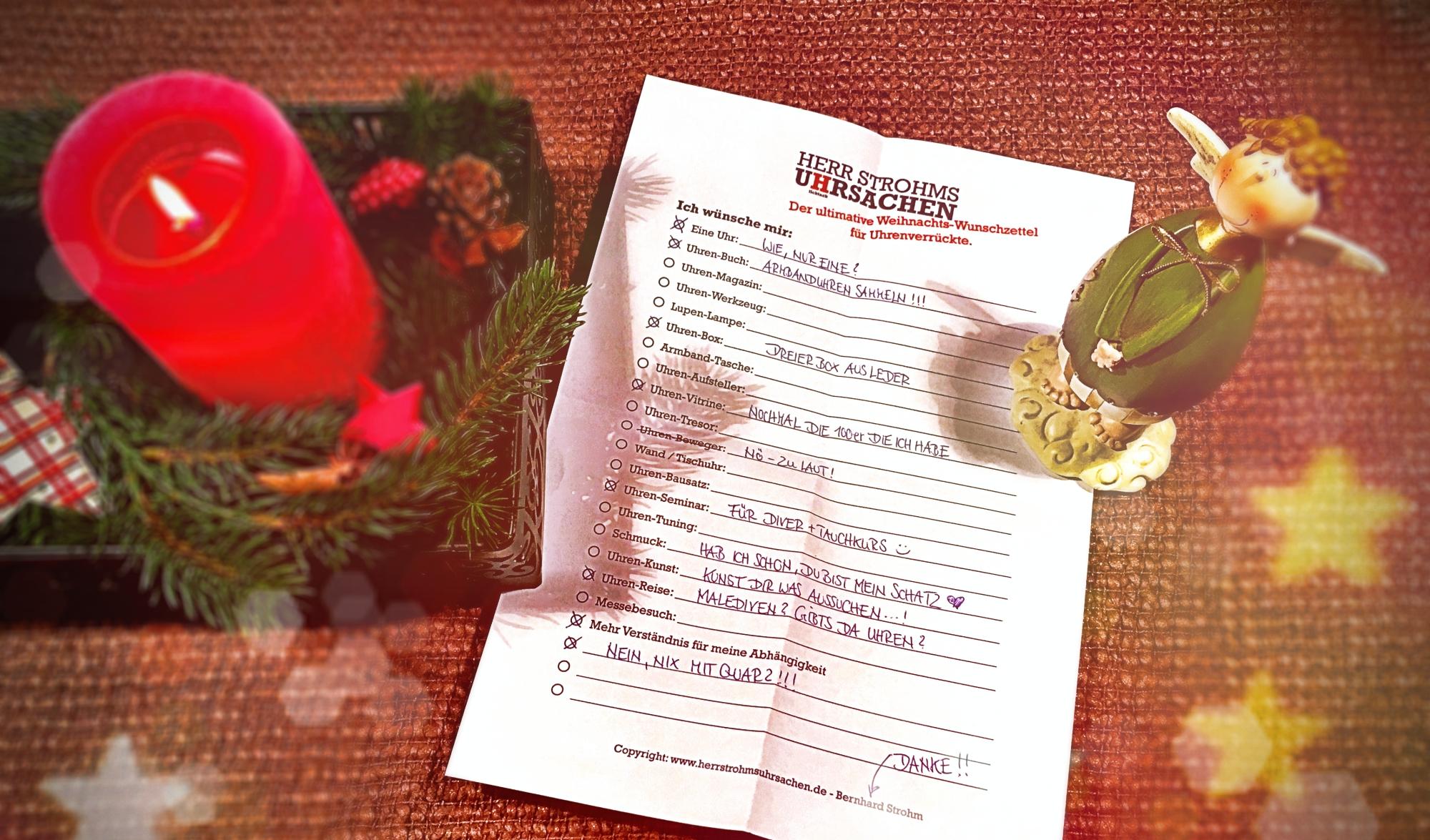 Die ultimative Weihnachtswunschliste zum Verlinken und Ausdrucken ...